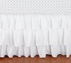 Bed Skirt For Crib Ruffle Crib Skirt Pottery Barn