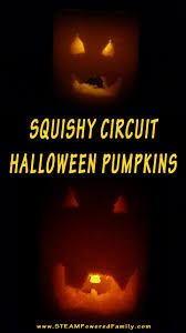 halloween pumpkins with squishy circuits