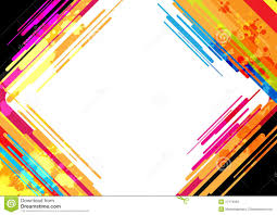 abstract colorful frame design stock photo image 27179060
