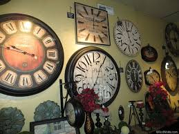 interior wall home accessories with vintage wall clock wayne