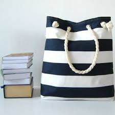 nautical bags navy blue or stripe print tote accessory bag fashion