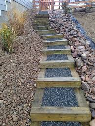 Landscaping Ideas Hillside Backyard 36 Best Wood Stairs Images On Pinterest Stairs Landscaping