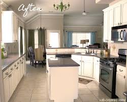Painted Kitchen Cabinets Before And After Pictures Painted Kitchen Cabinets Chalk Paint Well Groomed Home