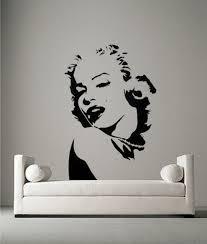 marilyn monroe portrait vinyl wall art sticker decal bedroom mural marilyn monroe portrait vinyl wall art sticker decal bedroom mural stencil art