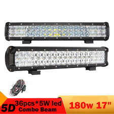 jeep light bar 2 pcs 180w 5d led light bar for jeep renegade jeep patriot 18inch