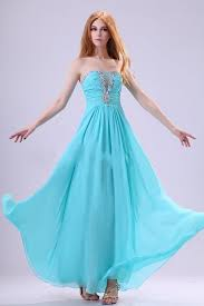 2013 strapless beading blue chiffon evening gowns on sale on