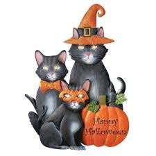 amazon com decorative lighted halloween cats yard stake 28