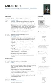 Ece Sample Resume by Marketing Coordinator Resume Samples Visualcv Resume Samples