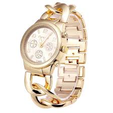 link bracelet watches images Bsl857 big chain wrist watch for ladies gold and silver vogue jpg