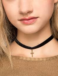 gold cross choker necklace images 56 cross choker necklace black cross pendant choker necklace jpg
