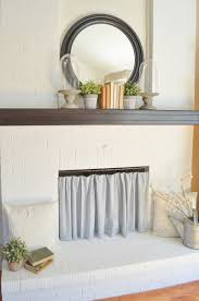 How To Cover A Window by Easy Diy Fireplace Cover
