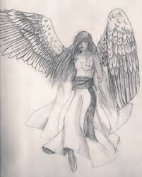 photos angel sketches black white drawing art gallery