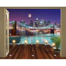 wall murals next day delivery wall murals from worldstores walltastic brooklyn bridge nyc wallpaper mural