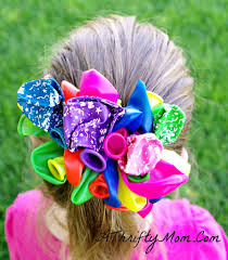 kids craft diy balloon barrettes