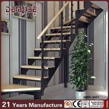 indoor stairs designs l shaped inox handrail wood staircase buy