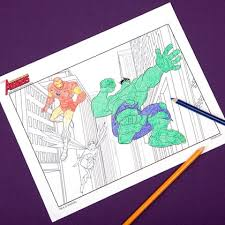 avengers coloring pages disney family