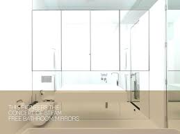 Bathroom Demister Mirrors Pleasant Demister Bathroom Mirrors Steam Free Bathroom Demister