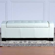 White Leather Storage Ottoman Best Selling Guernsey Leather Storage Ottoman Ivory