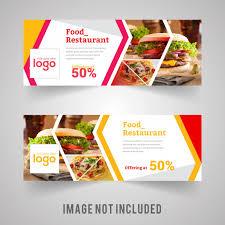 food banner design for restaurant vector premium download