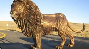 lion of judah statue bronze lion of judah statue tours america before being gifted to