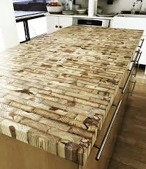 kitchen island made from reclaimed wood best 25 butcher block dining table ideas on diy table