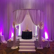 Pipe And Drape Hire Circular Wedding Ceremony Pipe And Drape Cabana And Uplighting At