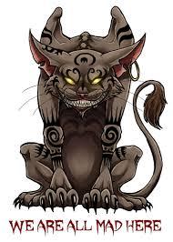 evil alice in wonderland alice in wonderland and evil cat