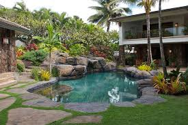 tropical garden landscaping ideas for backyard complete with