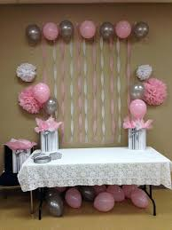simple bridal shower cheap bridal shower decoration ideas light pink grey white baby