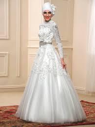 wedding dress for muslim arabic sleeves gown appliques beading muslim wedding