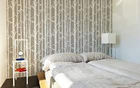 decorative wallpaper for home modern birch tree wall stencil decorative scandinavian large wall