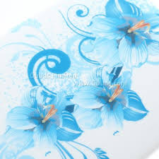 blue lilies blue flowers tpu gel for htc one m7 801e tpu guuds