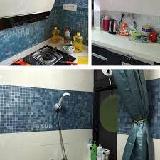aliexpress com buy bathroom wall stickers pvc mosaic wallpaper
