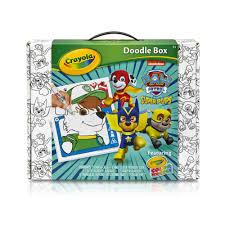 crayola color wonder paw patrol superpups doodle box art kit
