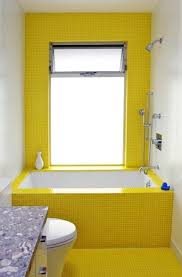 yellow tile bathroom ideas bright and yellow ideas for bathroom decoration