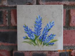 Ceramic Tile Murals For Kitchen Backsplash Bluebonnet Vase Art Tile Mural Kitchen Back Splash Ceramic