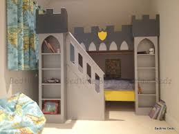 Castle Bedroom Furniture Castle Bed With Front Staircase Storage Steps Shelved Towers