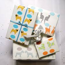 themed wrapping paper modern dog themed wrapping paper from riverdogprints dog milk