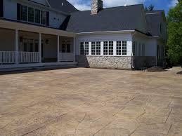 Stamped Concrete Patio Design Ideas by Decorating Great Home Construction With Stamped Concrete Patio