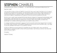 Letter To Submit Resume Cover Letter Sample For Cabin Crew 914