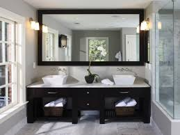 other design sweet white wooden frames bathroom mirrors with wall