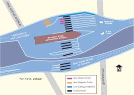 Port Huron Michigan Map by Blue Water Bridge U2013 Ezbordercrossing