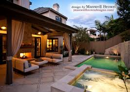 small pools and spas port district small yard pool spa traditional pool orange