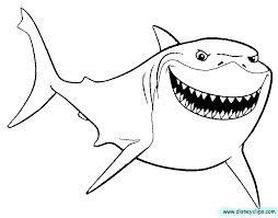 Drawn Shark Finding Nemo Shark Pencil And In Color Drawn Shark Nemo Color Pages