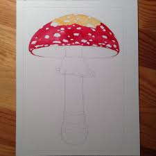 how to paint a mushroom life science studios
