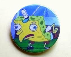 Spongebob Chocolate Meme - spongebob pin etsy