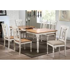 meredith 7 piece extending dining set cut out back chairs