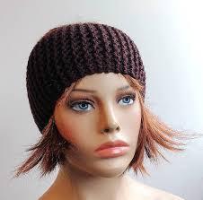 knitted headband ear warmer brown headband womens headband knitted headband