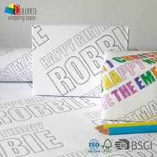 customized wrapping paper 2016 coloring book design gift wrapping paper gift packaging