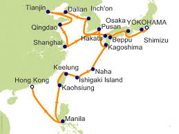 pusan on map 28 japan china and taiwan collectors voyage cruise on